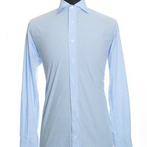 SuitSupply Micro Gingham Check TwoPly Cotton Shirt